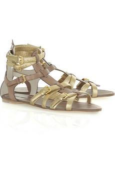 Miu MiuMetallic gladiator sandal
