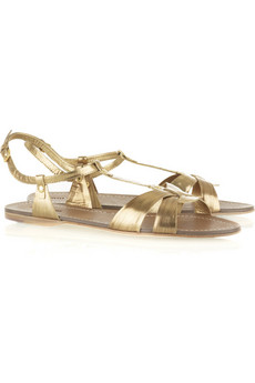 Miu Miu Scratched T-bar sandals