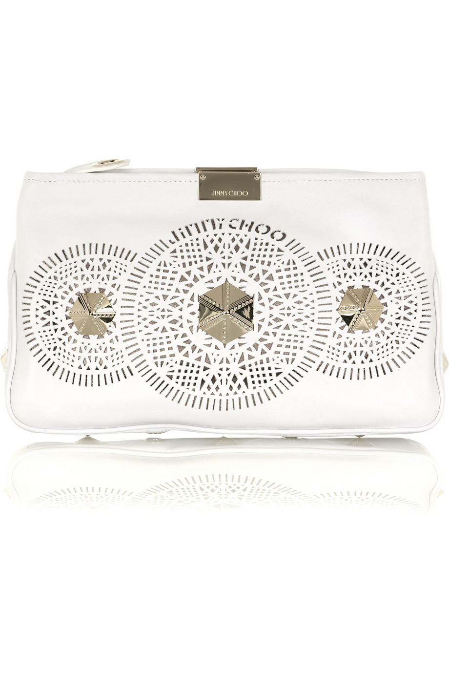 Jimmy Choo Zulu leather clutch  | NET-A-PORTER.COM from net-a-porter.com