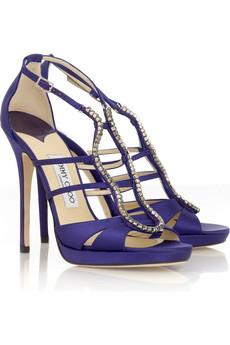 Jimmy Choo Satin platform sandal