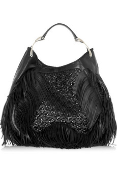 Alexander McQueen Leather woven wishbone shopper  | NET-A-PORTER.COM