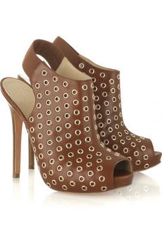 Alexander McQueen Studded platform peep-toe bootie