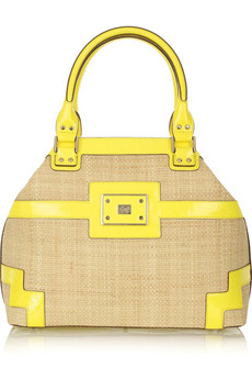 Anya Hindmarch Yellow straw tote