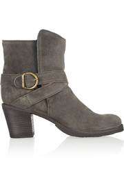 Fiorentini & Baker Nubis shearling-lined suede ankle boots