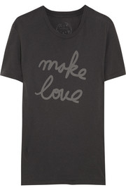 Kiki de Montparnasse Make Love printed cotton T-shirt