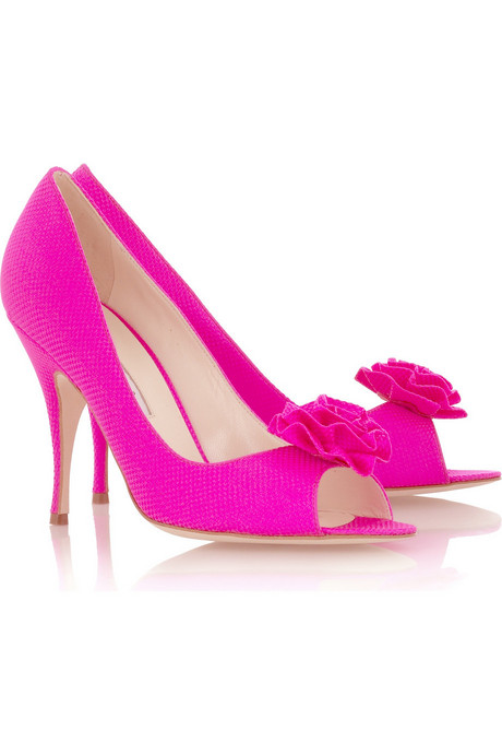 Brian Atwood Fuchsia peep-toe pumps  :  designer bags designer shoes pumps peep toe
