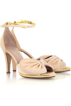 ChloéBow embellished sandals