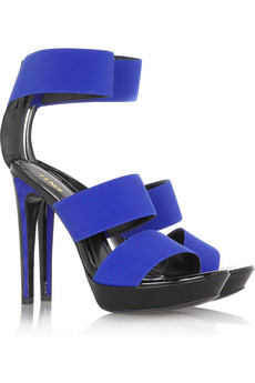 Fendi Strappy platform suede sandals
