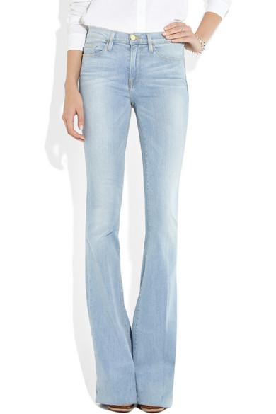 FRAME | Forever Karlie Flare long-length mid-rise jeans | NET-A ...