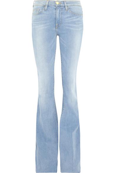Frame Forever Karlie Flare Long Length Mid Rise Jeans