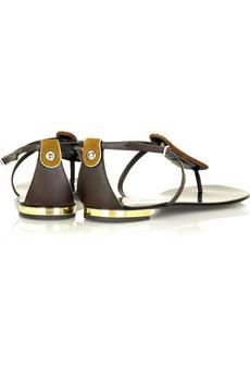 Giuseppe ZanottiCrystal detail thong sandals