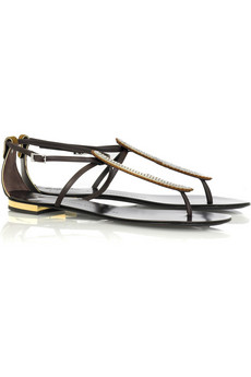 Giuseppe Zanotti Crystal detail thong sandals
