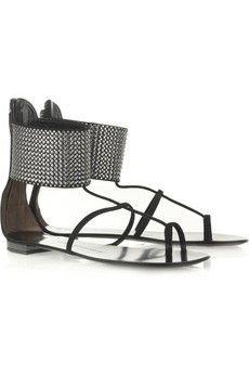 Giuseppe Zanotti Chainmail cuff sandals