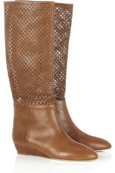 Loeffler RandallPerforated leather boots