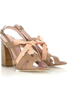 Marc by Marc Jacobs Patent leather ribbon sandals