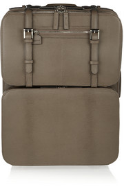 Moncrief Lizard-effect leather detachable-case travel trolley