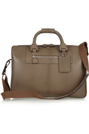 Moncrief Lizard-embossed leather weekend bag