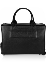 Moncrief Textured-leather travel trolley