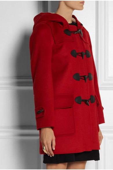 Burberry | Hooded wool duffle coat | NET-A-PORTER.COM