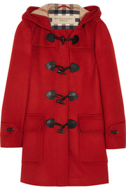Burberry Brit Hooded wool duffle coat