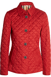 Quilted matte shell jacket
