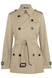 Burberry London Short cotton-twill trench coat