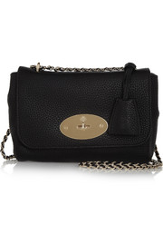 Lily small textured-leather shoulder bag
