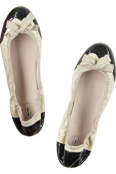 Miu Miu Brogue banana flats