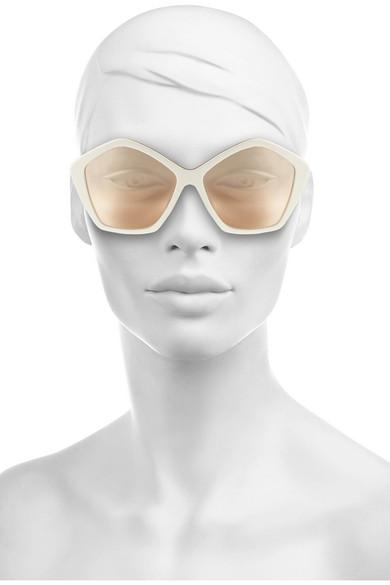 Miu Miu Hexagonal Sunglasses  miu miu hexagonal frame acetate and metal sunglasses net a