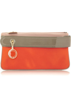 Stella McCartney Two-tone satin clutch  | NET-A-PORTER.COM from net-a-porter.com
