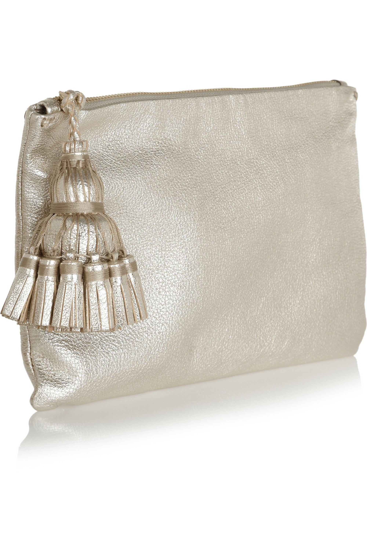 Anya Hindmarch Georgiana textured-leather clutch