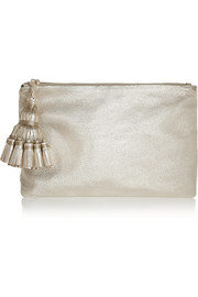 Anya Hindmarch Georgiana textured-leather clutch