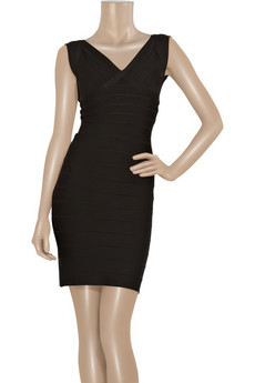 Hervé Léger V-neck bandage dress