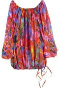 Emanuel Ungaro Printed blouson silk top