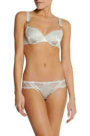 Stella McCartney Selma Dancing stretch-silk and lace balconette bra