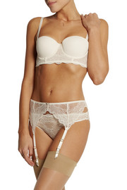 Stella McCartney Minnie Sipping lace and jersey bra
