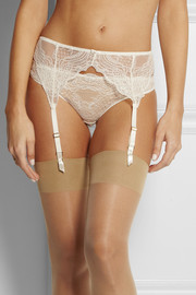 Stella McCartney Minnie Sipping lace and point d'esprit suspender belt