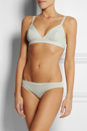 Stella McCartney Viola Dozing mesh and stretch-jersey soft-cup bra