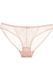 Stella McCartney Isabelle Wondering lace and stretch-tulle briefs