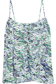 Stella McCartney Solange Leaning printed washed stretch-silk camisole