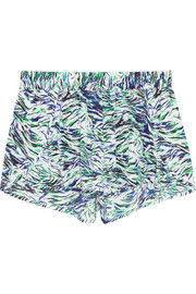 Stella McCartney Solange Leaning printed washed stretch-silk shorts