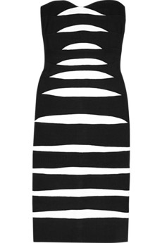 Hervé Léger Zebra stripe dress