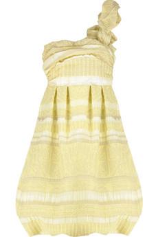 39531 in l - Tek Ask�l� Sar� Elbise Modeli ve Aksesuarlar�
