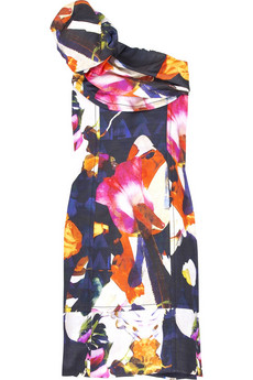 Christian Lacroix Asymmetric silk dress