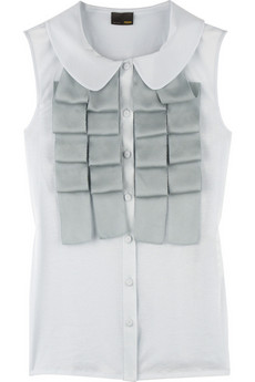 Fendi Ruffle front top