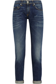 The Dre cropped mid-rise slim-leg boyfriend jeans
