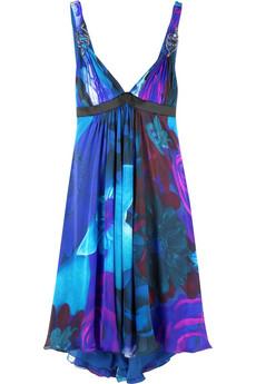 Roberto CavalliMiami print dress