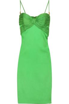 Roberto Cavalli Stretch satin bustier dress