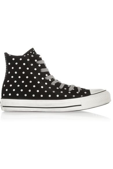 08170e5930e0 Converse. Chuck Taylor All Star polka-dot suede high-top sneakers