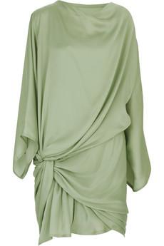 Donna KaranSatin draped mini dress